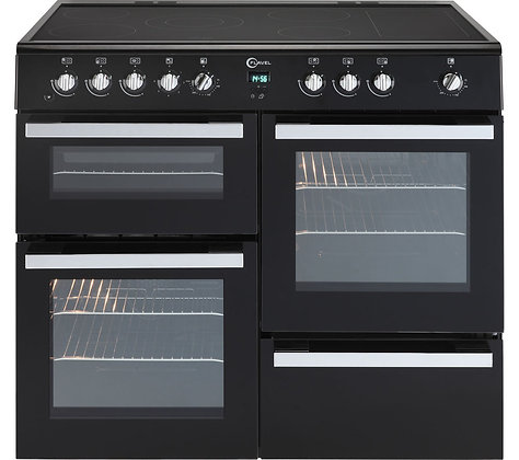 FLAVEL Milano 100 MLN10CRK Electric Range Cooker - Black & Chrome