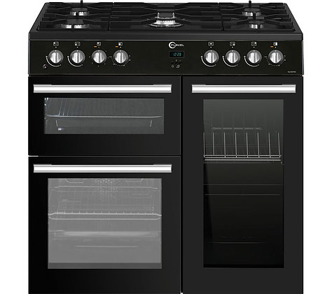 FLAVEL MLN9FRK 90 cm Dual Fuel Range Cooker - Black