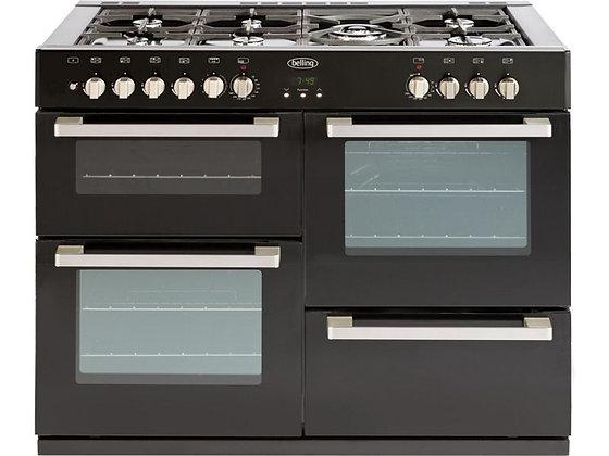 Belling DB4110DF Double Dual Fuel Range Cooker - Black