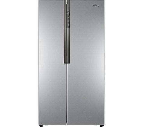 HAIER HRF-521DS6 American-Style Fridge Freezer - Silver