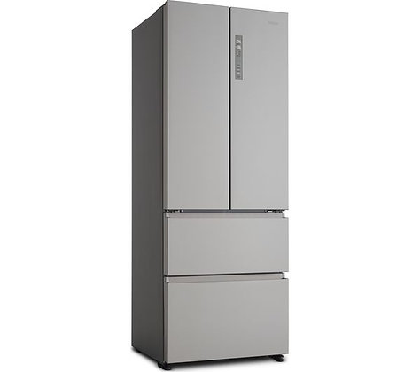 HAIER HB16FMAA 60/40 Fridge Freezer - Stainless Steel