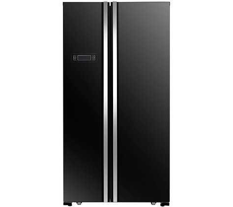 KENWOOD KSBSB17 American-Style Fridge Freezer - Black