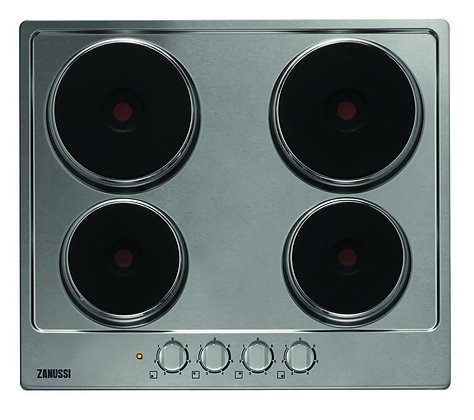 ZANUSSI ZEE6940FXA Electric Solid Plate Hob - Stainless Steel