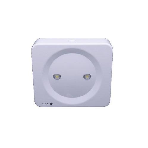 גוף תאורת חרום כפתור מרובע 6W על הטיח