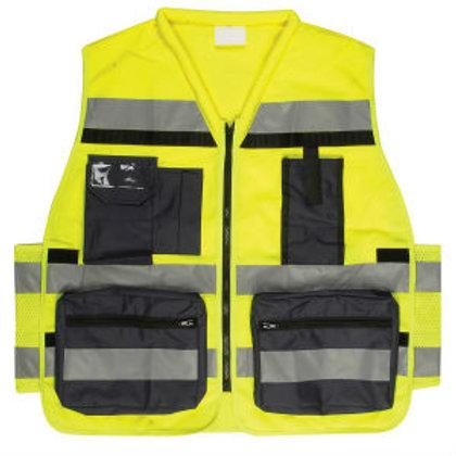 אפוד עבודה זוהר צהוב תקן משטרה