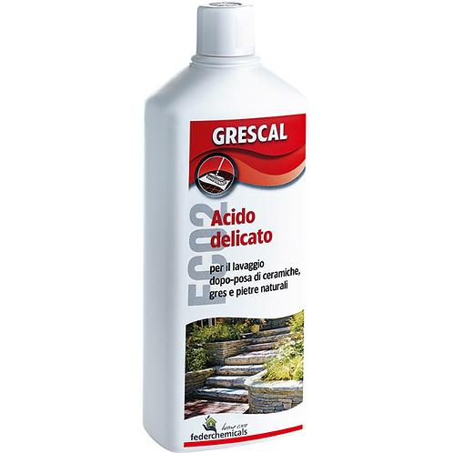 חומצה עדינה לגרניט ואבן טבעית 1 ליטר GRESCAL