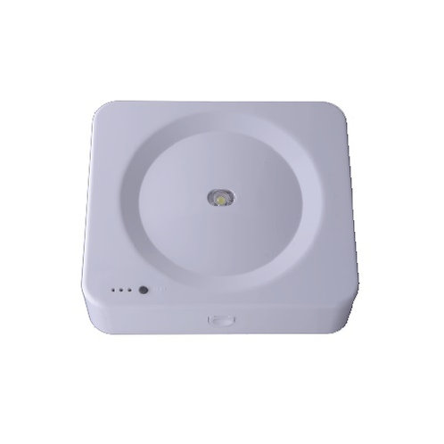 גוף תאורת חרום כפתור מרובע 3W על הטיח