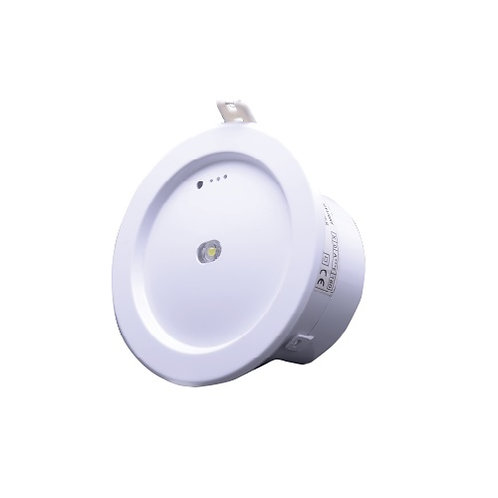 גוף תאורת חרום כפתור עגול 3W שקוע