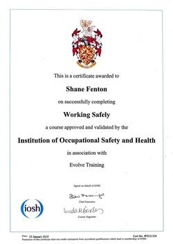 20190119 - IOSH Working Safely-1