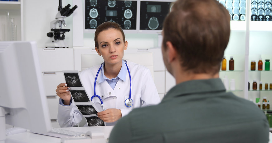 Medical Doctor Woman Consult a Patient M