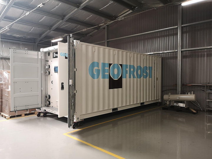 CO2 Chiller 38DB inside container , SST-