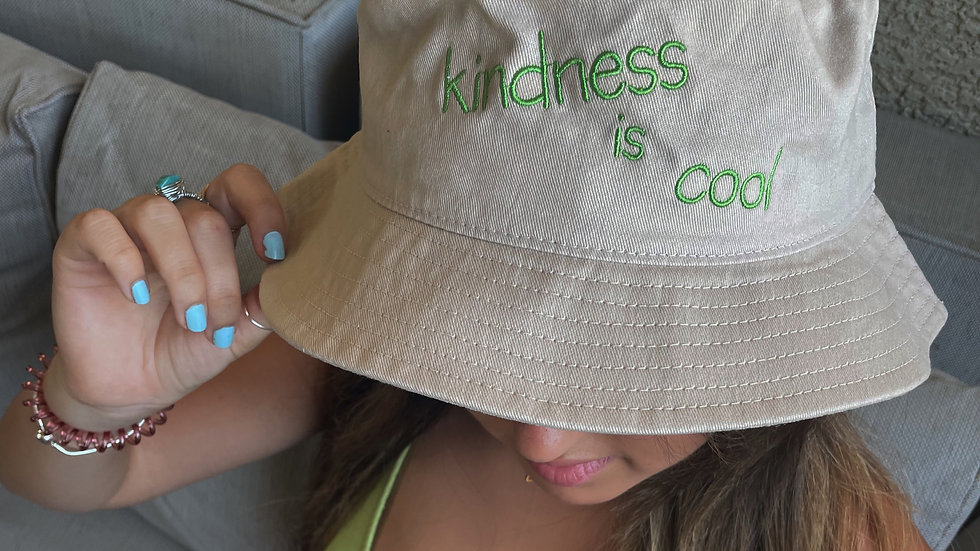 KINDNESS IS COOL BUCKET HAT