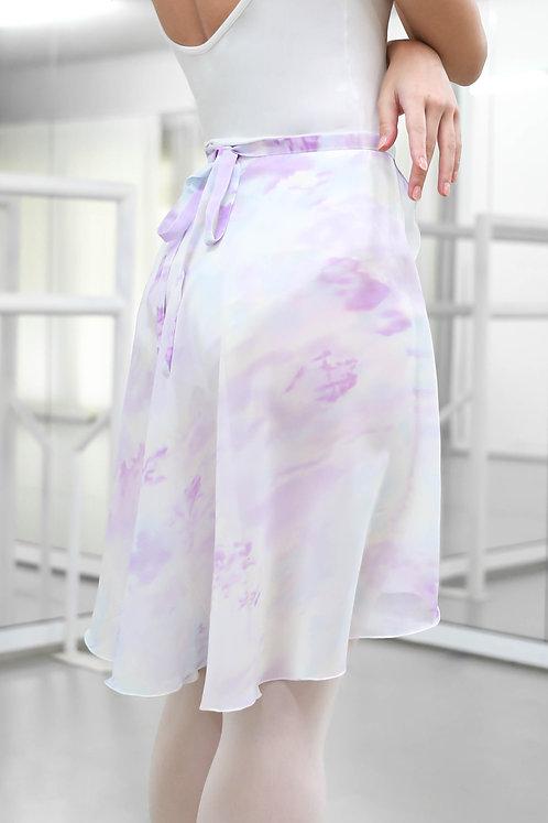 Purple Marble Medium Wrap Skirt