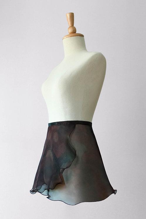 Midnight Florals Wrap Skirt