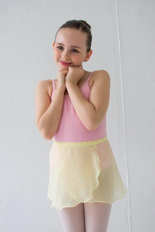 Yellow Hearts Kids Wrap Skirt
