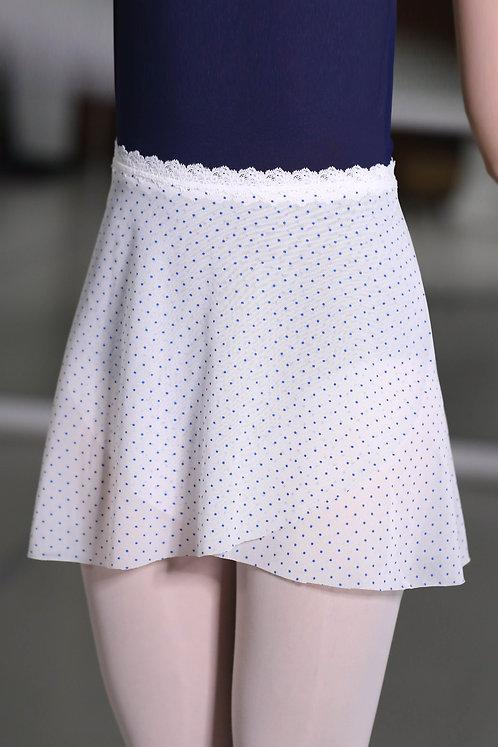 Polka Dot Mesh Wrap Skirts