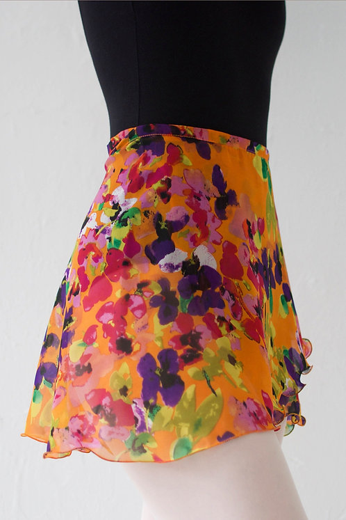 Colorful Flower Wrap Skirt