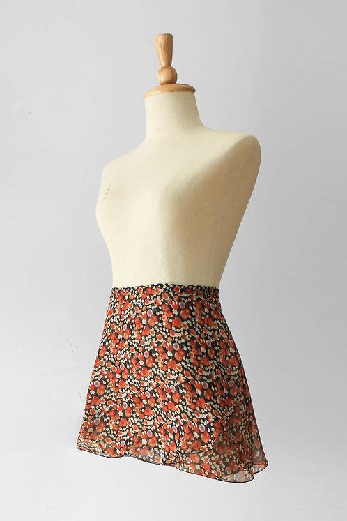 Scarlet Flower Wrap Skirt