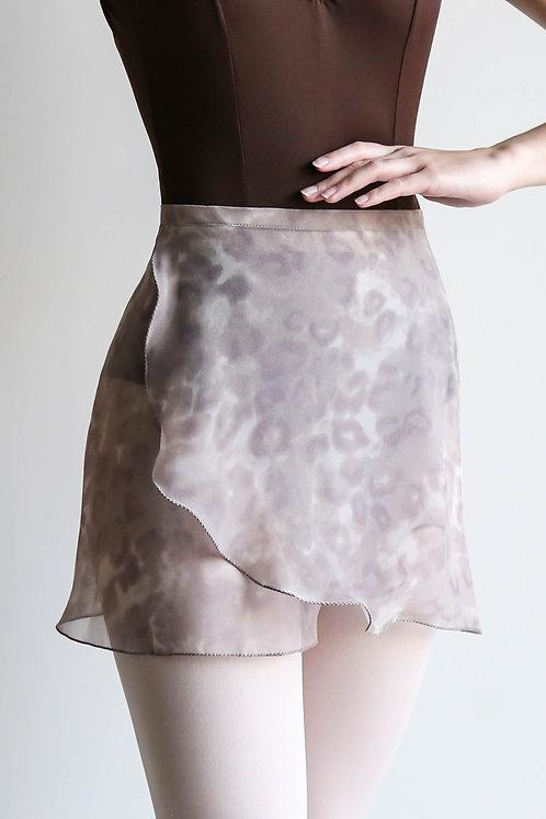 Faded Leopard Wrap Skirt