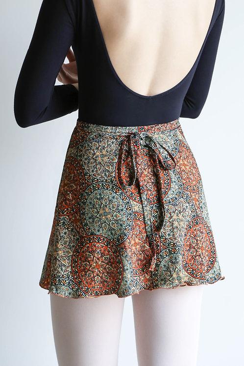 Orange Medal Wrap Skirt