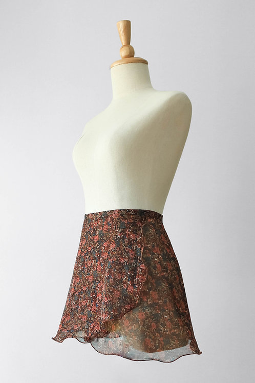 Foliage Flowers Wrap Skirt