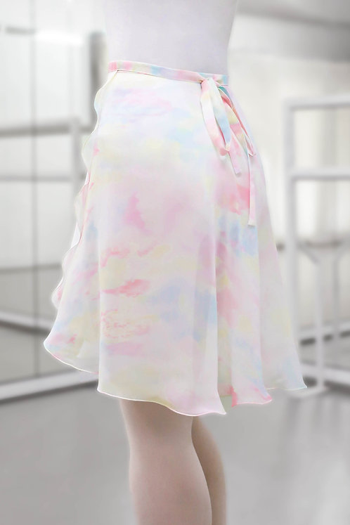 Pastel Marble Medium Wrap Skirts