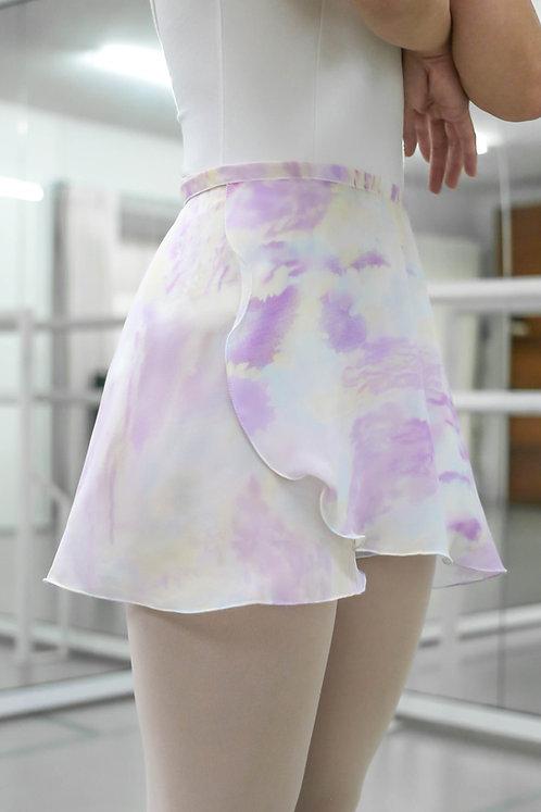 Purple Marble Wrap Skirt