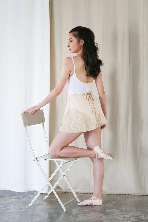 Dot Lace Duo Wrap Skirt