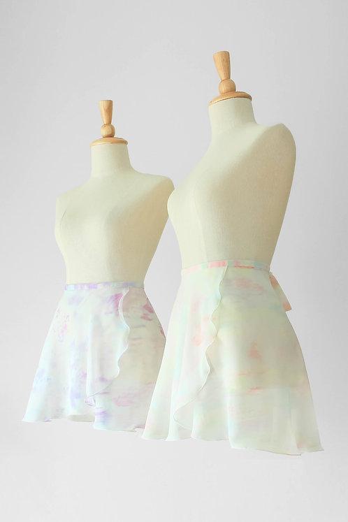 Marble Short Wrap Skirt