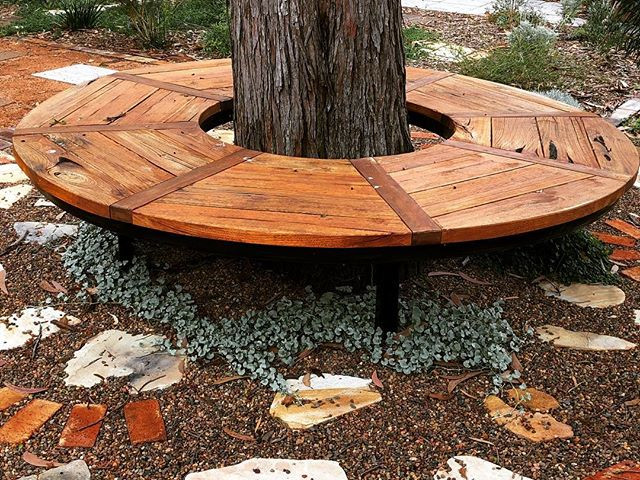 Our custom-made tree seat installed into