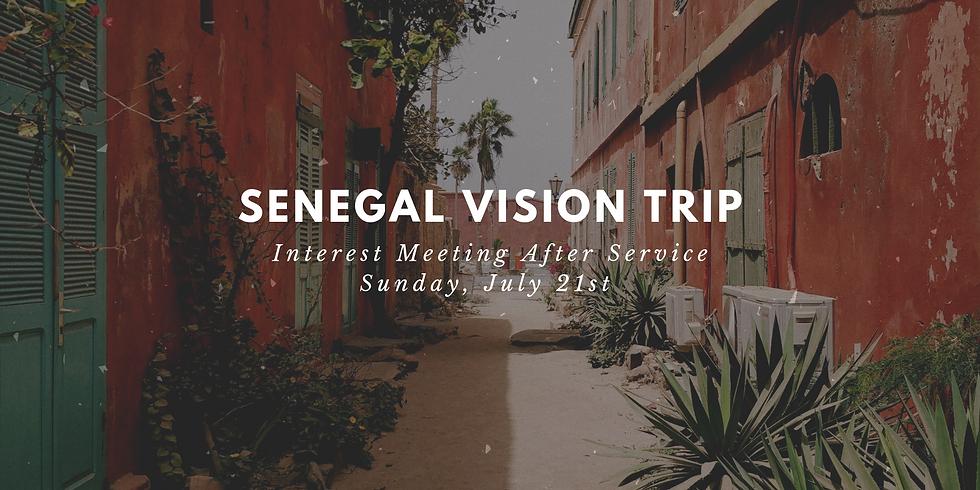 Senegal Vision Trip Interest Meeting