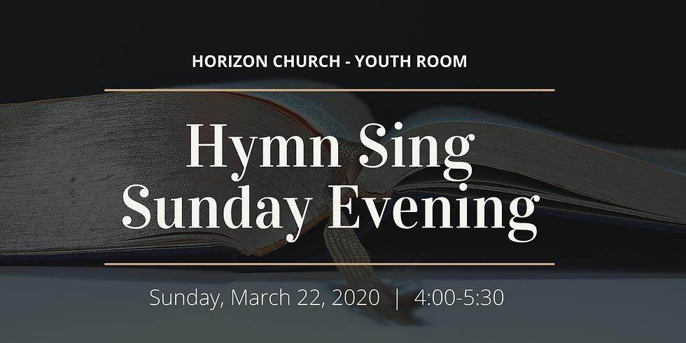 Hymn Sing  (Postponed)