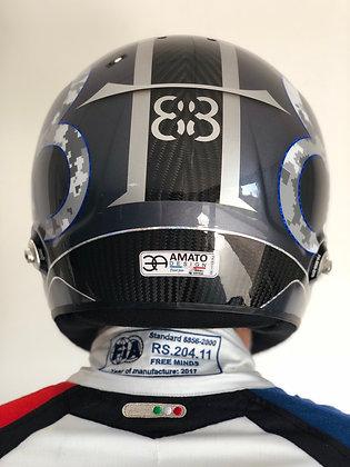 Logo casque pilote - Back - par course