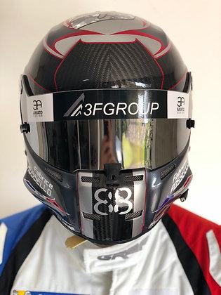 Logo casque pilote - Front - par course