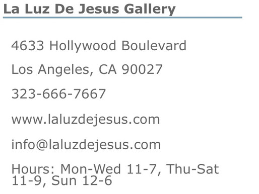 Guy Hector at La Luz De Jesus Gallery