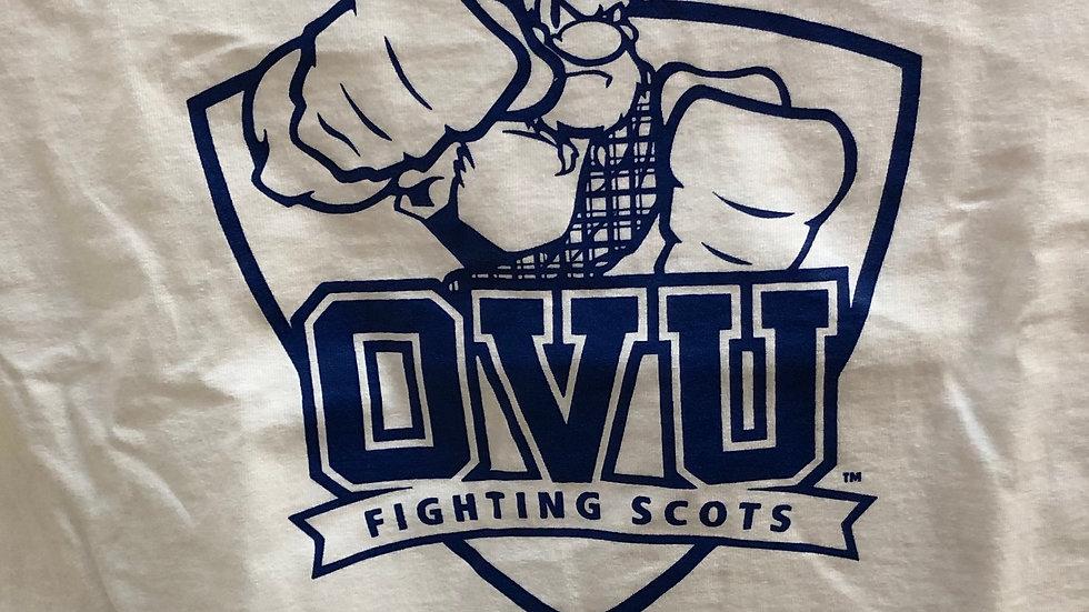OVU White Fighting Scots Short Sleeve
