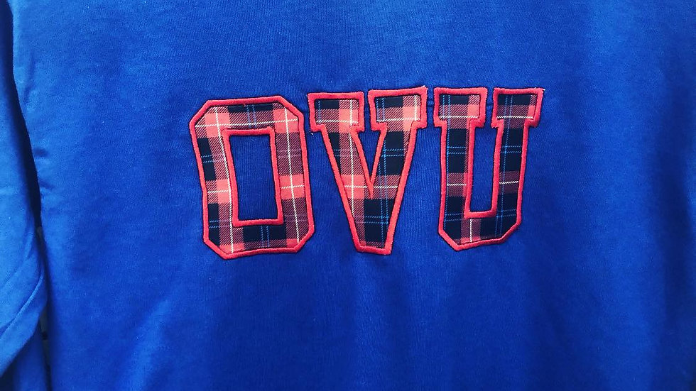 OVU Long-Sleeve Plaid Embroidery