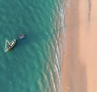 Vue aérienne mer/plage