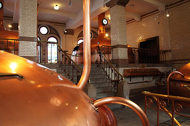 Inside of microbrewery