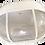 Thumbnail: Plafoniera bianca ovale con palpebra