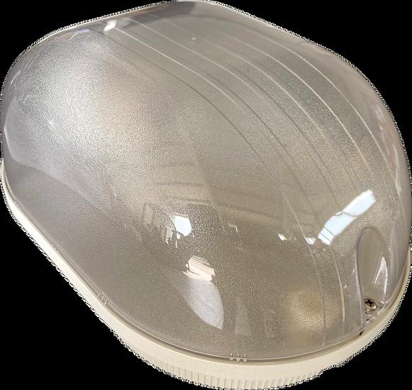 Plafoniera ovale grigia
