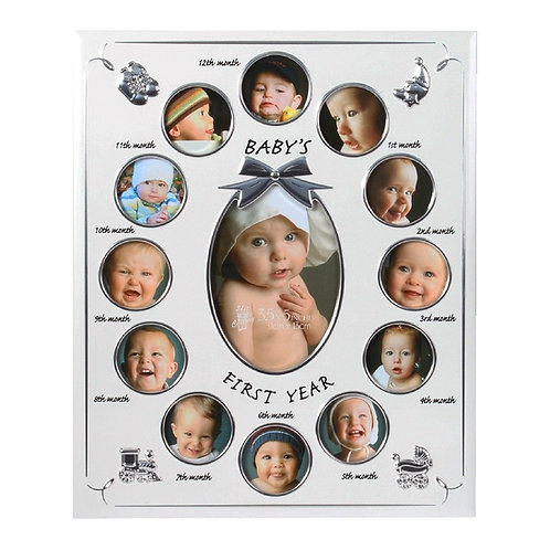 Celebrations Baby's First Year Collage Photo Frame