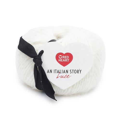 Red Heart An Italian Story Luce - Bianco #6311