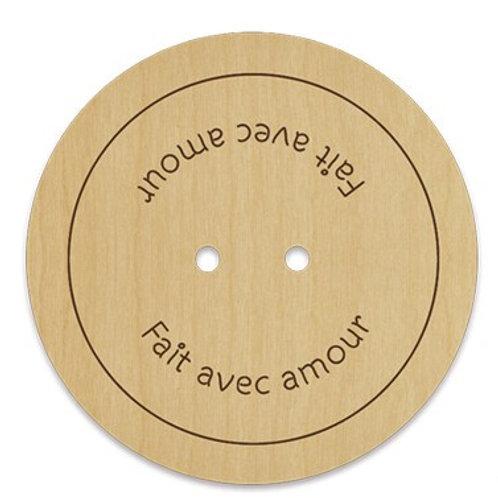 Artcollection - Bouton fait avec amour #022
