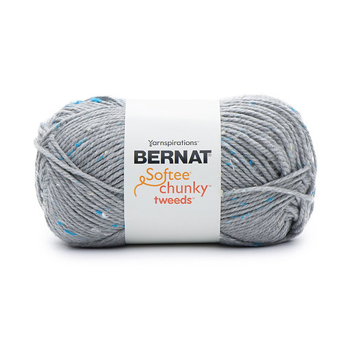 Bernat Softee Chunky Tweeds - Soft gray tweed #11004