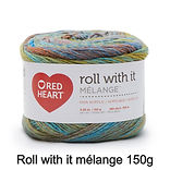 Red heart roll with it mélange