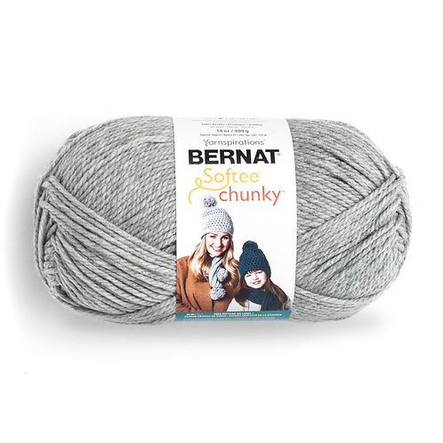 Bernat Softee Chunky - Gray heather #30046