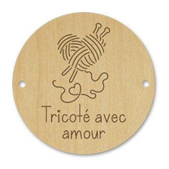 Artcollection - Bouton coeur de laine - tricoté avec amour #141