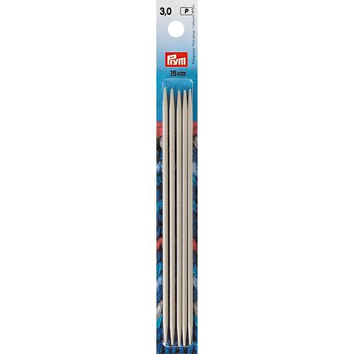 Aiguille à tricoter à 2 pointes 15cm - 3mm