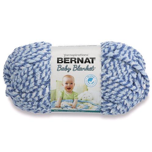 Bernat Baby Blanket - Blue Twist #1002